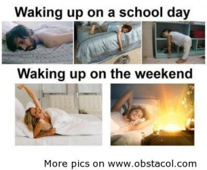 Waking up on a school day | Funny Pictures, Funny Images, Funny Quotes