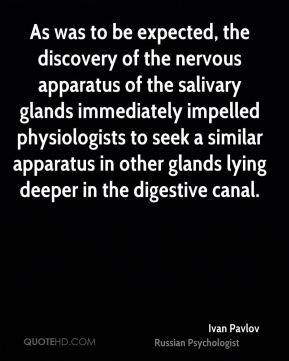 in other glands lying deeper in the digestive canal Ivan Pavlov