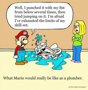 mario plumber cartoon by sardonic salad