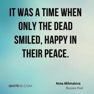 Anna Akhmatova Time Quotes