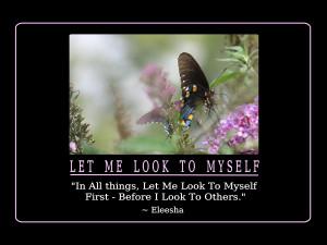 Myself Quotes and Affirmations by Eleesha [www.eleesha.com]