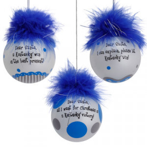 Kentucky Wildcats Three-Pack Team Sayings Ornaments