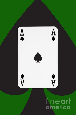 Playing Cards Ace Spades