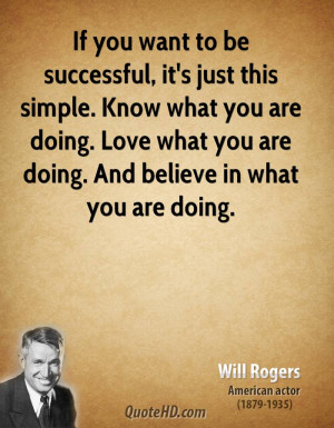 Will Rogers Love Quotes