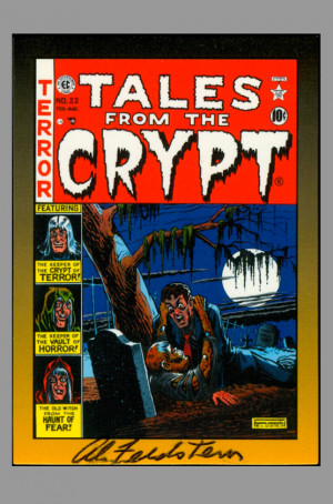 Al Feldstein Tales From The Crypt Ec Signed Autograph Trading Art Card
