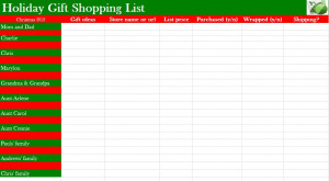 christmas gift list template friends gift list printable shopping list ...