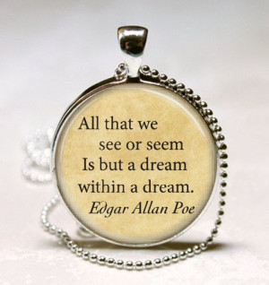 ... ://www.etsy.com/listing/154650994/edgar-allan-poe-book-necklace-poe