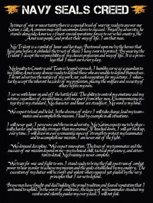 US Navy Seal Creed