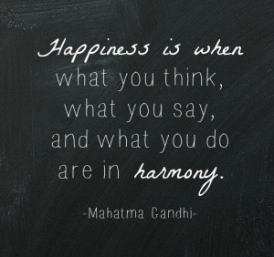 Gandhi. Happiness.