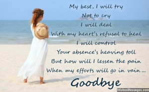 Sad Goodbye Quotes For Him Sad farewell and goodbye card