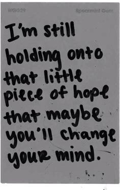 Sad quote don't kno why but I'm waiting feeling like a hopeless ...