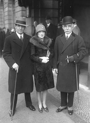Otto H Kahn with his son and daughter May 1931
