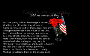 Famous Christian Memorial Day 2015 Poems