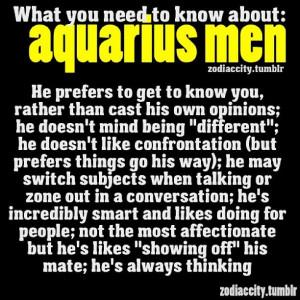Aquarius Men.