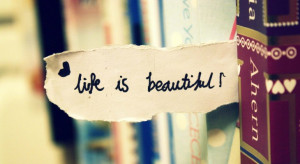 Life quote: Life is beautiful