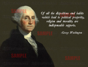 Of all the dispositions and habits which lead to political prosperity ...