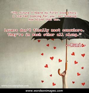 Rumi quotes friendship