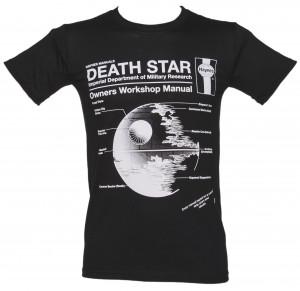 Men's Black Haynes Manual Death Star Star Wars T-Shirt
