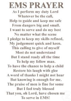 Poem : The EMS Prayer
