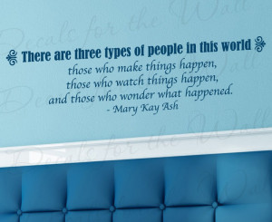 Make Things Happen Mary Kay Ash Wall Quote Decal