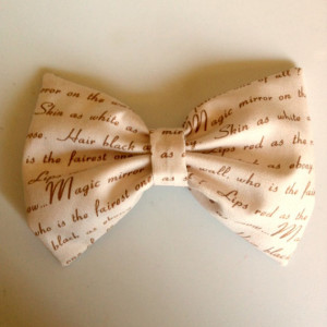 Snow White Quotes Hair Bow