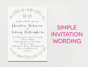 Wedding Invitation Wording Samples (For Real Life) | A Practical ...