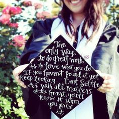 Inspiration #quote on a grad cap -