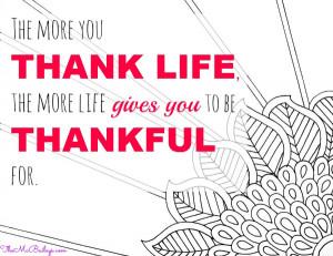 TheMcBaileys.com Thankful Thursday Quote