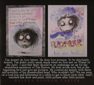 quotes art tim burton helena bonham carter movies drawings love