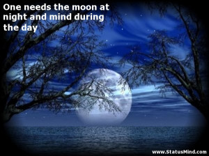 One needs the moon at night and mind during the day - Wise Quotes ...