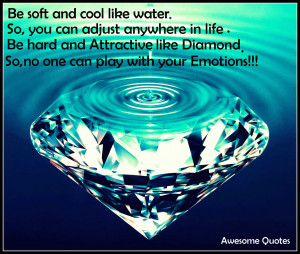 Be Soft And Cool Like Water Motivational Love Quotes