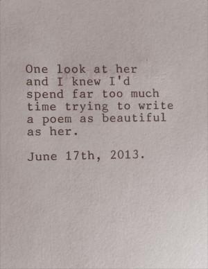 poem as beautiful as her
