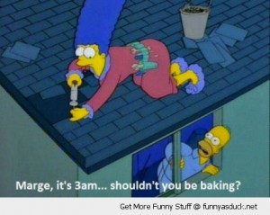 marge simpson baking homer tv scene funny pics pictures pic picture ...