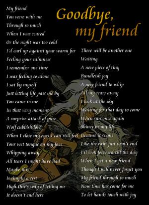 Goodbye my Friend 0609 Image