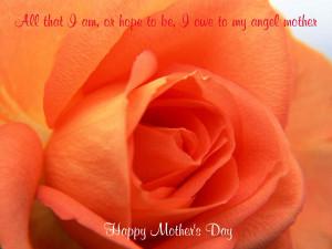 All that I am, or hope to be, I owe to my angel mother