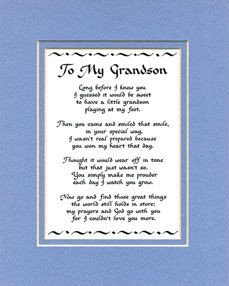 love my grandson quotes heartfelt verse that expresses such a lovely ...