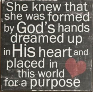 formed by God's hands...