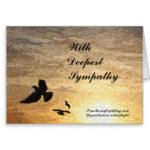 Sympathy Sayings Cards Card