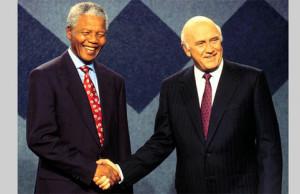 Nelson Mandela and F.W. de Klerk