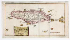 Die Insel Sainte Croix mit den namen der plan plantage 1767