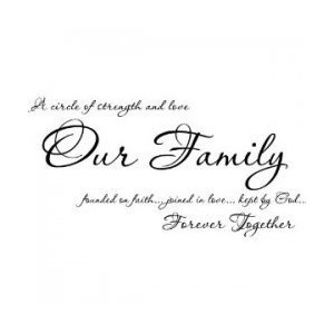 short inspirational family quotes