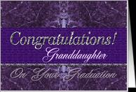 Granddaughter Graduation Congratulations Purple Stone card - Product ...