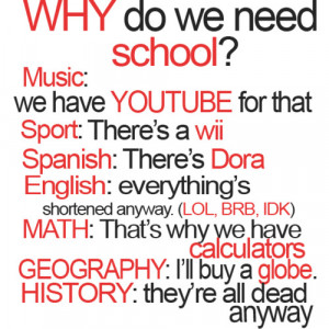 Funny School Quotes For Teenagers