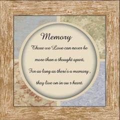 In Loving Memory Poem