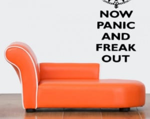 ... Sticker Room Decal Art Funny Now Panic And Freak Out Quote Words 873
