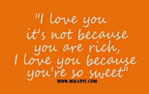 Youre So Cute Quotes You're so sweet - love quotes.
