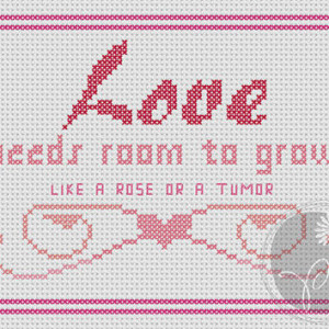 Christopher Moore Fool quote - Love (Printable PDF Pattern)