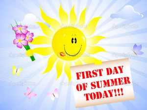 First Day Of Summer Stock Illustration. .First Day Of Summer Clip Art