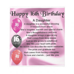 Happy 16th Birthday Daughter Quotes 16th birthday ... happy