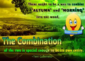 autumn morning quotes